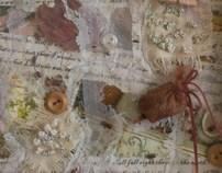 Alice In Wonderland Inspired Framed Textile