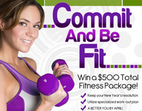 Commit & Be Fit Ad/Contest Campaign