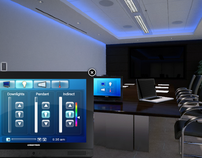Crestron Interactive Boardroom GUI