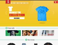 E- commerce landing page