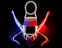 Crystal Neon Baroque Chair