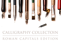 CALLIGRAPHY collection. ROMAN CAPITALS edition.