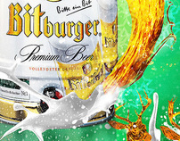"Bit Burger "" Merry Chrismast"" poster"