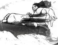 Martial Arts Magazine Spot Illustrations