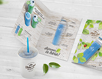 Tumbler brochure and pakage design