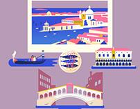 :::Famous destinations - travel posters:::