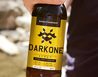 DarkOne Beer label design
