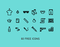 60 Free Line Vector Icons