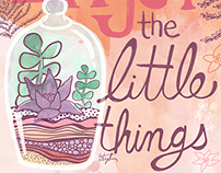 Enjoy the Little Things editorial illustration