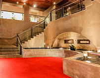 Panorama of Lobby in Hotel Valencia, ​San Antonio, TX,