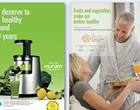 Hurom Juicer Infographics and Recipes booklet design