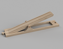 Wooden Train Seesaw