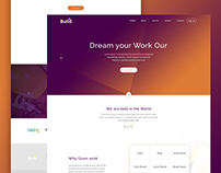 Build...... Construction Landing Page Concept