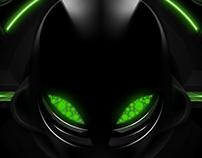 Dark Alien Tech Background + Animation