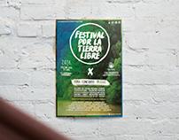 Poster Festival por la Tierra libre
