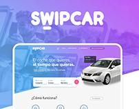 Swipcar. Car renting, car leasing. App platform.