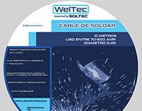 Etiqueta Cable de Soldar Weltec