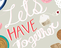 Let's Have Tea Art Print