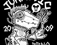 Jurassic Pards x redslim08 Collab Shirt!