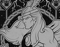 Thor: Silver on Black