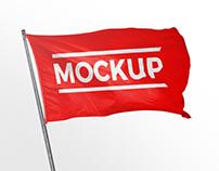 FREE FLAG MOCKUP #02
