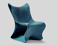 Mawj 3D Printed Chair designed by MEAN*