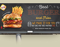 Burger Restaurant Billboard Template Vol.7
