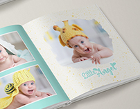 A set of photobook designs.