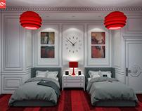 Classic boys bedroom design at con-creative office