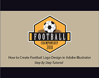 Retro Style Football Logo Design - Sports