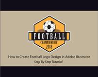 Retro Style Football Logo Design - Sports