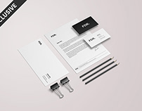 Free Minimalist Stationery Mockup Vol. 2