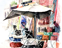 Marrakesh Watercolor on paper