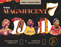 The Magnificent 7 - NBA Legends mobile wallpapers