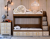 """Childrens furniture. Collection """"MECHANICAL"""""""