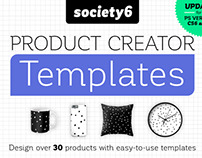 Society 6 Product Creator Templates