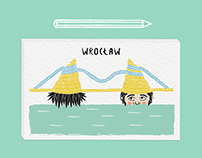 Project of postcard for Wrocław