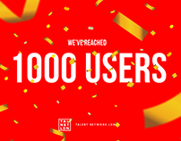 1000 Users Flyer - Printed & Gif