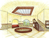 Architectural Drawing of a SPA Resort