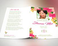 Watercolor Floral Funeral Program Publisher Templates