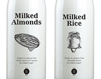 Milked Almonds. Milked Rice.