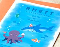 Under Sea Birthday Invitation