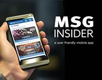 MSG Insider App