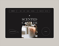 Candle store web design