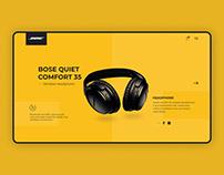 Boss Headphone webpage design