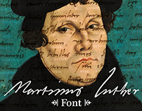 Letter by Letter • Martin Luther Handwriting Font