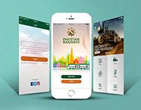 Pakistan Railway Mobile App Design options