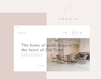 Somnia Hotel Website Design