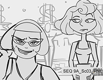 The Awesomes - Dames of Danger - Storyboard Revisions