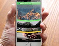 Mobile portfolio for a videographer